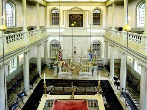Touro Synagogue was designed by Peter Harrison, the celebrated colonial architect and Newport resident.