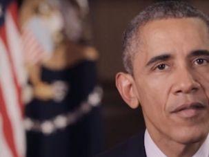 President Obama speaks to Haaretz conference in New York.