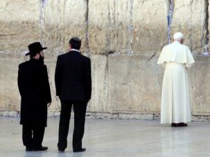 At the Wall: Pope Benedict XVI made a historic trip to Israel in 2009.