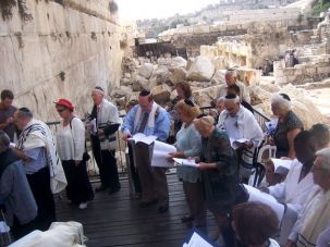 Belated ?Simcha?: Nine residents of Cedar Village retirement facility in Mason, Ohio recently celebrated their bar and bat mitzvahs in Jerusalem.