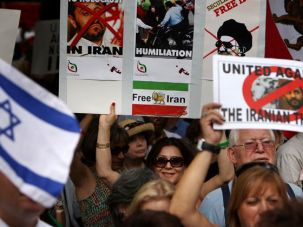 Were We Heard? Demonstrators gathered outside the United Nations September 24 for the Stand for Freedom in Iran Rally.