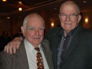 Rashi Fein, left, and his brother Leonard Fein.