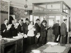 Neither Snow, Nor Rain, Nor War: Jews in America line up to send money to their relatives in war-torn Europe.