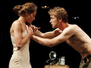 Hand on Heart: Jascha (Adam Rothenberg) makes a point to his lover and fellow retributionist, Anika (Margarita Levieva).