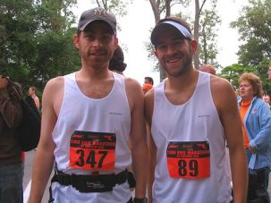 Founders: Rabbis Scott Weiner, left, and Benjamin David founded Running Rabbis in 2005. They have raised about $30,000 for charities from the races. Next up: The New York City Marathon.