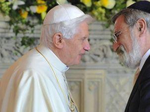 Pontificators In Chief: Pope Benedict XVI with chief rabbi Jonathan Sacks