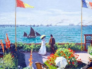 The newly found Monet painting is similar to the French impressionist's 'Garden at Sainte-Adresse.'