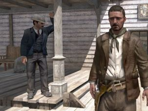 Not Red, Not Dead, Not Redeemed: Is Sam Odessa, here standing in front of the railroad company, our only hope?