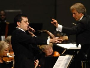 The Raw and the Cooked: Haim Avitsur playing shofar with the Wilmington Symphony Orchestra.