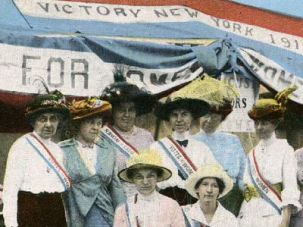 Suffragettes at New York State Fair in 1915