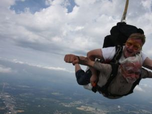 Sky?s the Limit: Aaron Rosloff dove from 8,000 feet in 2011.