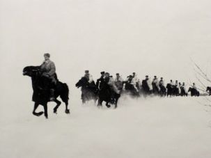 In Beauteous Battle: Dmitri Baltermants?s 1941 photograph depicts a scene ?Behind Enemy Lines.?
