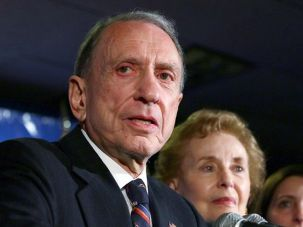 Arlen Specter on the night of his defeat, May 18.