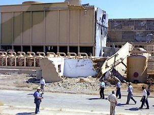 Bombed Out: In 2002, journalists tour the site of the nuclear reactor bombed by Israel during an air raid in 1981.