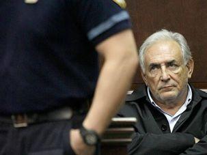 Jailed: Dominique Strauss-Kahn in custody.