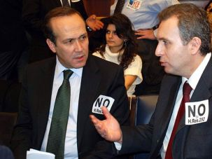 ?Genocide?: Turkey recalled its ambassador to the U.S., Namik Tal (left) after a resolution refer- ring to an Armenian genocide passed through the House Committee on Foreign Affairs.