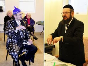 No Spiel: The Jewish Tea Party movement, convened by Rabbi Mordechai Yitchok Friedman (right), took place on Purim.