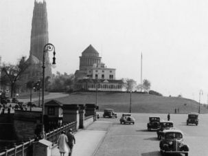 Once Upon a Time on the Upper West: In 1930, when this photo was taken, the view of the Grant Memorial and Riverside Drive was not as cluttered as it is today.