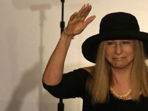 Babs Under Fire: Barbra Streisand, shown here at the Western Wall, was the subject of a nasty anti-Semitic comment in Holland.