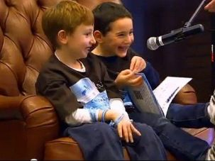 One Sweet Mitzvah: Dylan Siegel, left, wanted to raise money for a cure when he found out his friend Jonah Pournazarian had a rare genetic disease. So he wrote a book.