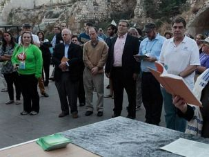 The Jewish Federations of North America capped their convention in Israel with a march to the Western Wall. Their prayer at the egalitarian prayer section of Robinson?s Arch was symbolic of their push to ease Orthodox control of religious affairs.