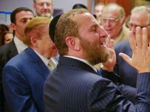 Sheldon and Shmuley: Shmuley Boteach speaks alongside casino mogul Sheldon Adelson at a Yeshiva University panel.