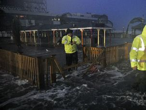Worries Mount: As Sandy plowed ashore, disaster management experts are worried about the safety of Jewish residents in oceanfront communities.