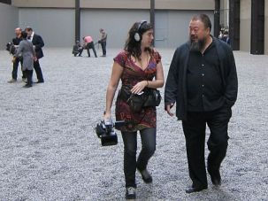 Quintessential Jewish Story: Alison Klayman and Ai Weiwei during filming of ?Ai Weiwei: Never Sorry.?