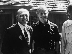 Top Secret: Israeli Primie-Minister Menachem Begin, President Jimmy Carter and Egyptian President Anwar Sadat at the Camp David Summit in 1978.