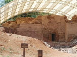 Dry Times: A Canaanite gate at Tel Dan. The Canaanite city-states collapsed amid climate change, a new study says.