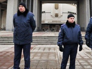 Uneasy Calm: Pro-Russian troops guard buildings in Crimea's capital. The situation is calm in the breakaway province, but tensions remain between Jewish leaders over Russia's annexation.