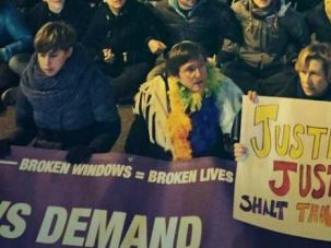 United We Stand: Marjorie Dove Kent, left, Rabbi Sharon Kleinbaum, center, and American Federation of Teachers chief Randi Weingarten protest police brutality.