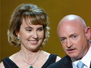 Dive In! Ex-Rep. Gabby Giffords, shown with her husband, plans to mark the third anniversary of the shooting rampage that nearly killed her by going skydiving.
