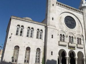 The Grand Synagogue in Oran, Algeria was converted to a mosque after most Jews left in the 1990s.