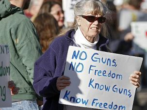 High Noon: Pro-gun groups rallied across the nation to push back against President Obama?s proposals, which they say will limit important rights.