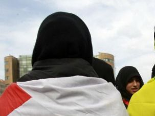 Two H?s: Pro-Hezbollah Lebanese demonstrators protest Israel?s attack on Gaza during the recent conflict.