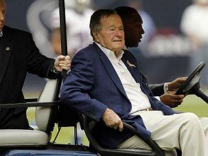 Guarded Condition: A spokesman said former President George H.W. Bush was alert.