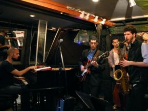 New Swingers: Israeli jazz players jam at Smalls in New York?s Greenwich Village.