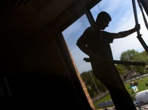 Security at a Cost: Congregation B?nai Israel of Staten Island installs new windows, paid for by a federal grant.