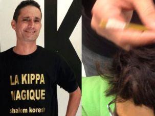 Shalom Koresh and his magic kippah