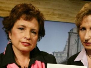 Embattled Opera: Lisa, left, and Ilsa Klinghoffer, the daughters of Leon Klinghoffer who was killed in the Achille Lauro cruise liner hijacking in 1985.