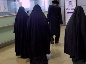 Stranger and Stranger: Women in the Lev Tahor sectwear a burqa like uniform that has led some to call the group the Jewish Taliban.