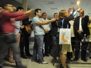 Havdalah in Moscow: Limmud FSU intends to introduce more religious content, thanks to an infusion of money from the International Fellowship of Christians and Jews.