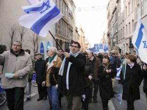 French Jews stage pro-Israel march in city of Marseille. So far, it has avoided the wave of anti-Semitic attacks that has struck France.