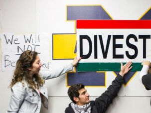 Change Course: University of Michigan students protested last month during a push for anti-Israel divestment. After first voting for divestment, students at the University of New Mexico reversed course and rejected the measure.