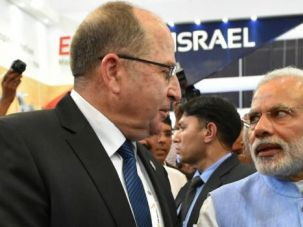 Israel Defense Minister Moshe Yaalon meets with India Prime Minister Narendra Modi.