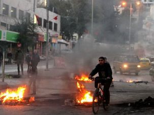 Right and Right-er: Palestinians were more concerned about local issues, like a prisoner dispute that sparked this West Bank protest, than the results of Israel?s election.