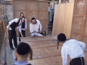I?m Gonna Get You, Sukkah: An Orthodox family prepares for Sukkot.
