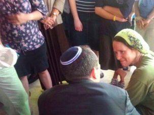 Open Door Policy: Rachel Fraenkel, the bereaved mother of murdered Israeli-American teenager Naftali Fraenkel, welcomes visitors in her home.