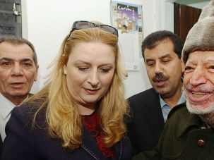 Dear Departed: The late Palestinian leader Yasser Arafat with his wife, Suha, in 2004.
